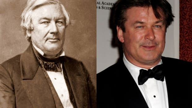 Famous Lookalikes: Millard Fillmore - Alec Baldwin (Image of Alec Baldwin provided by Getty Images)