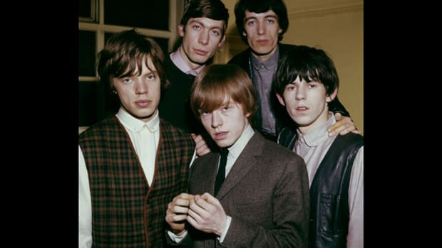 The Rolling Stones, including Mick Jagger (from left), Charlie Watts, Brian Jones, Bill Wyman and Keith Richards, were known for dressing gentlemanly, in suit jackets, vests or ties—and sometimes all three—in the early 1960s.