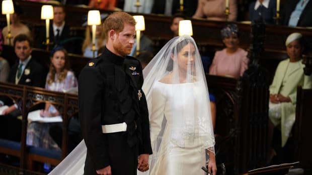 Prince Harry and Meghan Markle at their wedding