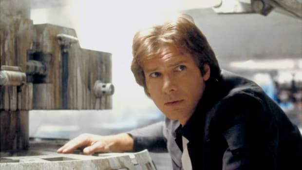 American actor Harrison Ford on the set of Star Wars Episode V - The Empire Strikes Back