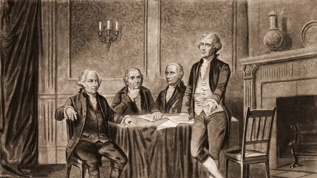 John Adams, Robert Morris, Alexander Hamilton and Thomas Jefferson