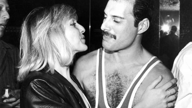 Mary Austin and Freddie Mercury