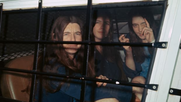 Three female members of the Manson family