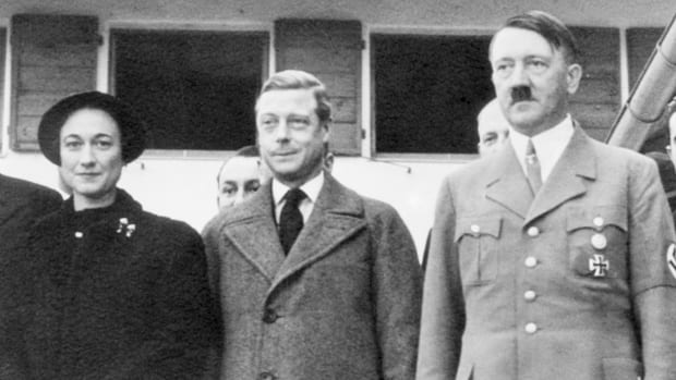 Adolf Hitler with the Duke and Duchess of Windsor on the recent occasion when they visited the Bavarian alpine retreat of the German dictator