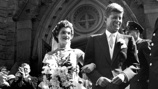 Jackie and John F Kennedy's Wedding, September 12 1953