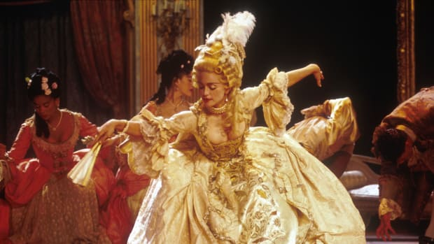 Madonna performing her song Vogue