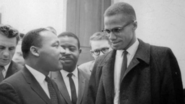 Martin Luther King Jr and Malcolm X