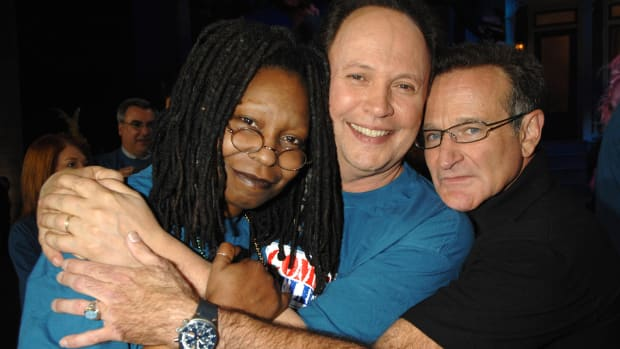 Whoopi Goldberg, Billy Crystal and Robin Williams