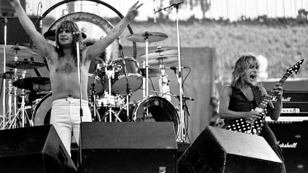 Ozzy Osbourne and Randy Rhodes performing at the Oakland Coliseum