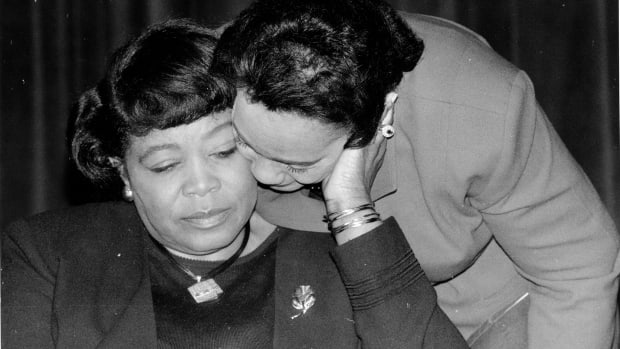 Betty Shabazz and Coretta Scott King
