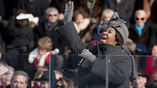 Aretha Franklin at the 2009 Presidential Inauguration, January 20, 2009
