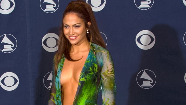 Jennifer Lopez in the green jungle Versace dress