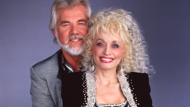 Kenny Rogers and Dolly Parton in 1987