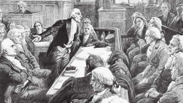 Courtroom Scene for Aaron Burr's Charge of Treason