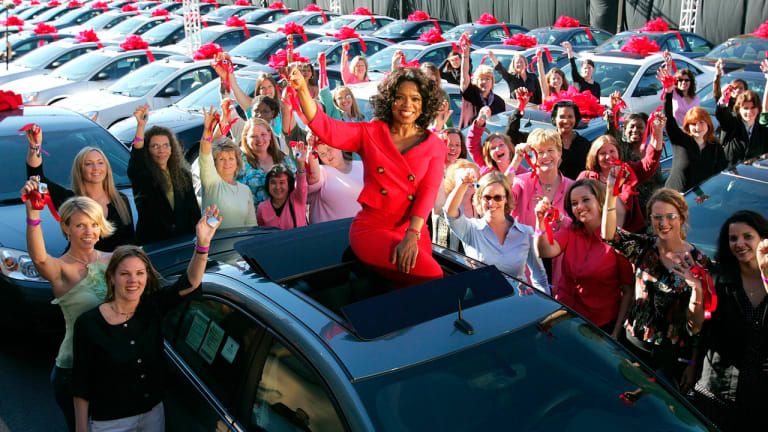 Why Oprah's Car Giveaway Is the Most Epic Talk Show Moment Ever