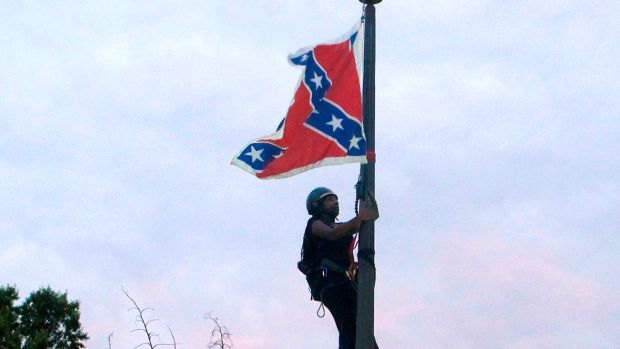 Bree Newsome Confederate Flag Takedown South Carolina Photo