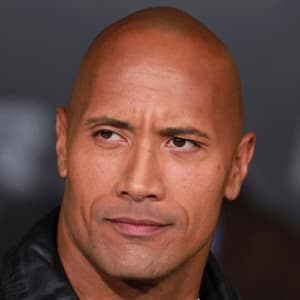 Dwayne The Rock Johnson looking to the left