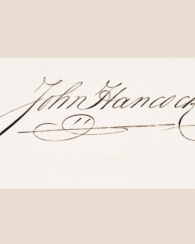 John Hancock Signature Photo