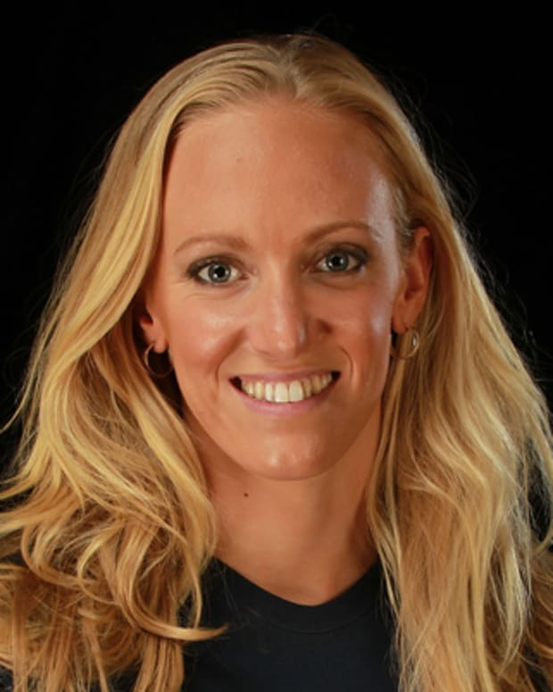 DALLAS, TX - MAY 15:  Swimmer, Dana Vollmer, poses for a portrait during the 2012 Team USA Media Summit on May 15, 2012 in Dallas, Texas.  (Photo by Ronald Martinez/Getty Images) *** Local Caption *** Dana Vollmer