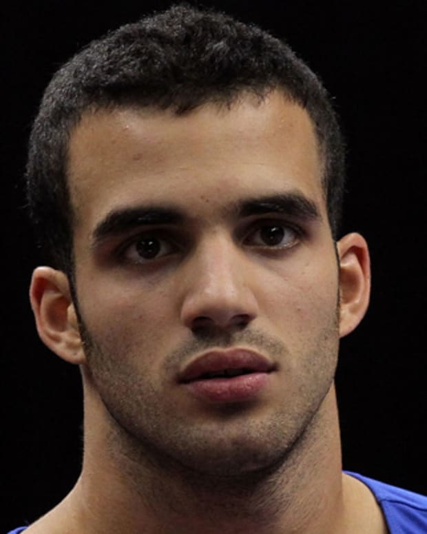 ST PAUL, MN - AUGUST 19:  Danell Leyva prior to competing in the Senior Men's competition on day three of the Visa Gymnastics Championships at Xcel Energy Center on August 19, 2011 in St Paul, Minnesota.  (Photo by Ronald Martinez/Getty Images) *** Local Caption *** Danell Leyva