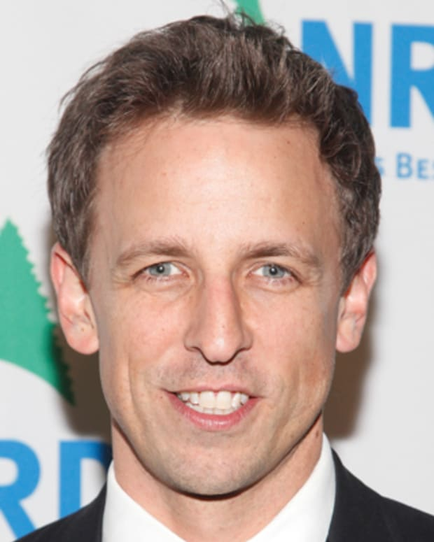 NEW YORK - NOVEMBER 14:  Comedian Seth Meyers attends NRDC's 13th Annual 'Forces For Nature' Benefit at American Museum of Natural History on November 14, 2011 in New York City.  (Photo by Amy Sussman/Getty Images for NRDC)