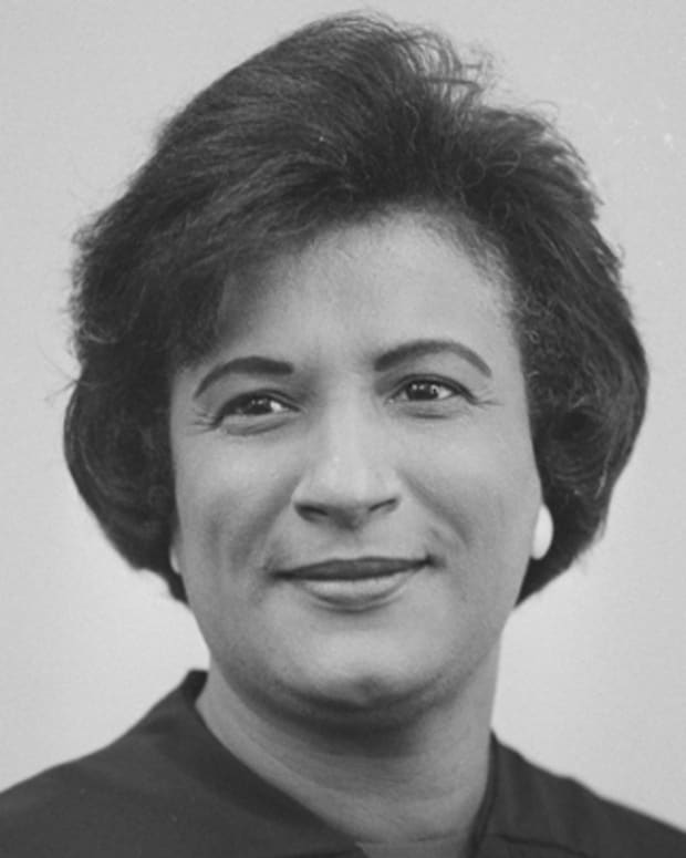 Newly sworn-in Federal Judge Constance Baker Motley is seen at the U.S. Courthouse in New York, Sept. 9, 1966.  She is the first African American woman to occupy a federal bench.  (AP Photo/Eddie Adams)