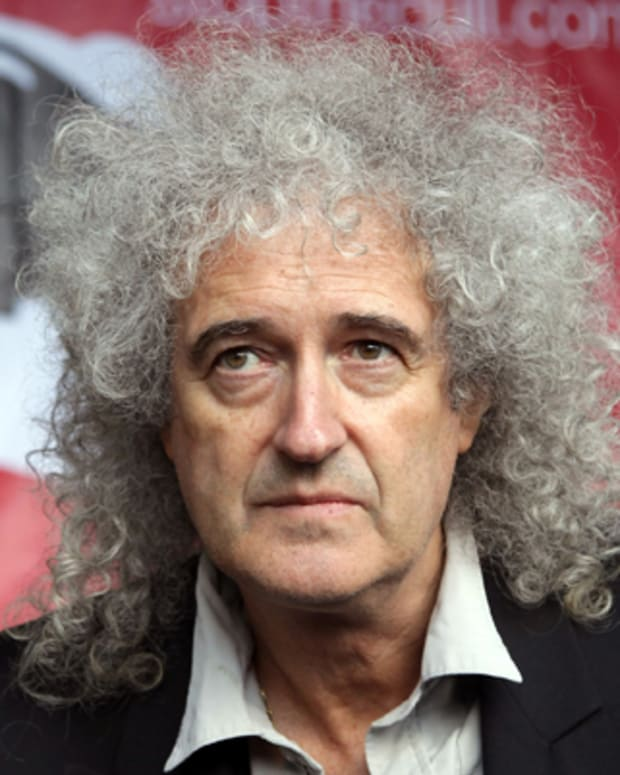 BRISTOL, UNITED KINGDOM - SEPTEMBER 11:  Brian May, Queen guitarist and founder of Save Me, talks to the media as he joins a rally against the proposed badger cull on College Green on September 11, 2012 in Bristol, England. During the rally it was announced that the Badger Trust has lost its Court of Appeal challenge to government proposals to kill thousands of wild badgers in England which clears the way for the start of culls in parts of Gloucestershire and Somerset. (Photo by Matt Cardy/Getty Images)