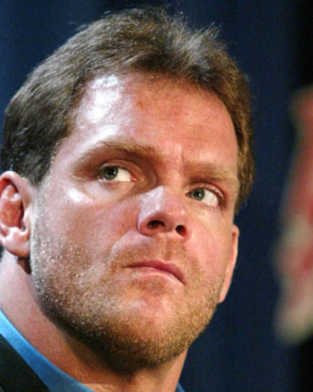 NEW YORK - MARCH 11:  Wrestler Chris Benoit attends a press conference to promote Wrestlemania XX at Planet Hollywood March 11, 2004 in New York City.  (Photo by Peter Kramer/Getty Images)
