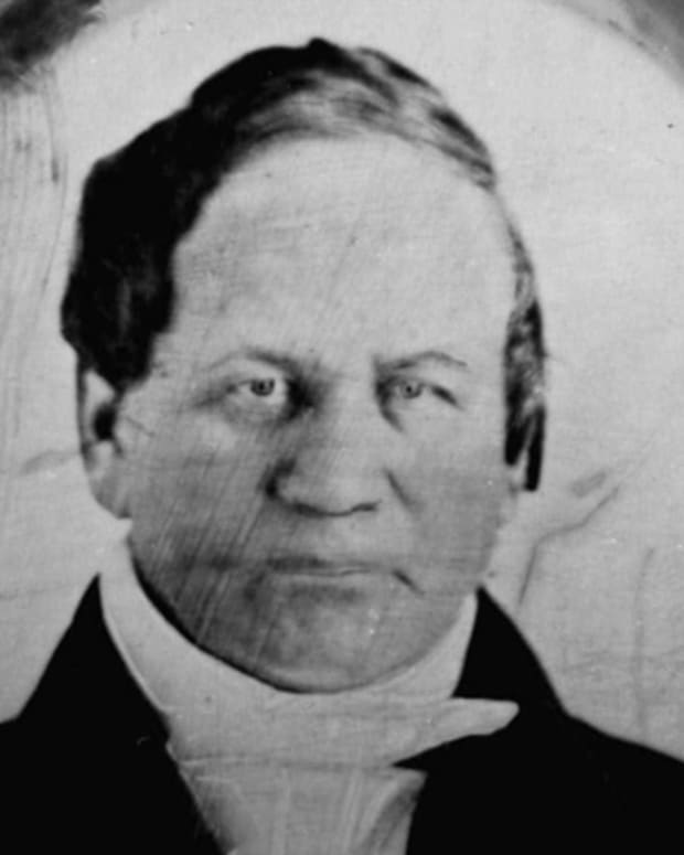 This is a circa 1840 photo of Alexander Twilight.  Twilight, the first African-American to earn a college degree in the United States, erected a four-story stone building by himself with only the help of one ox. (AP Photo)