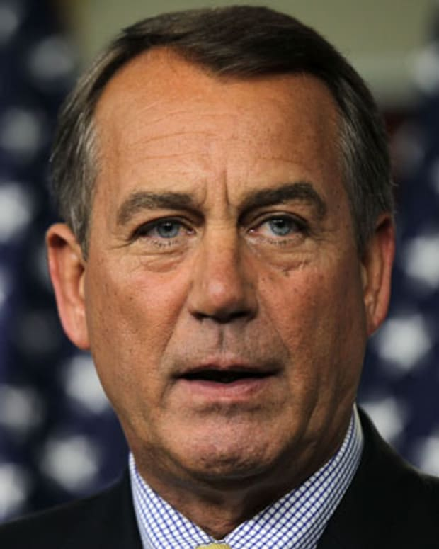 WASHINGTON - JULY 22:  U.S. Speaker of the House Rep. John Boehner (R-OH) speaks to the media during a statement at the Capitol July 22, 2011 on Capitol Hill in Washington, DC. Boehner announced earlier that he is walking away from the debt negotiation with the Obama Administration, but will resume talks with congressional leaders.  (Photo by Alex Wong/Getty Images)