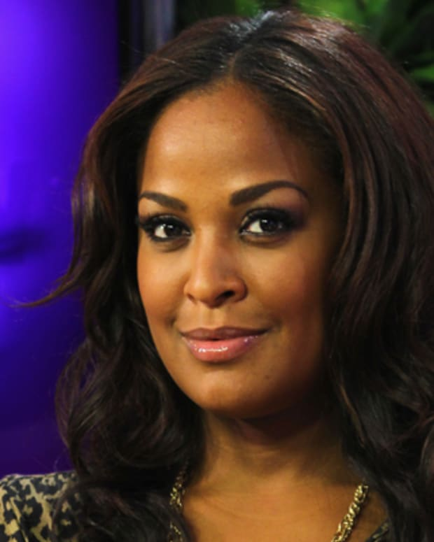 LOS ANGELES, CA - AUGUST 13:  (EXCLUSIVE COVERAGE) Former boxer/TV personality Laila Ali visits the Young Hollywood Studio on August 13, 2012 in Los Angeles, California.  (Photo by Nick Rood/Young Hollywood/Getty Images)
