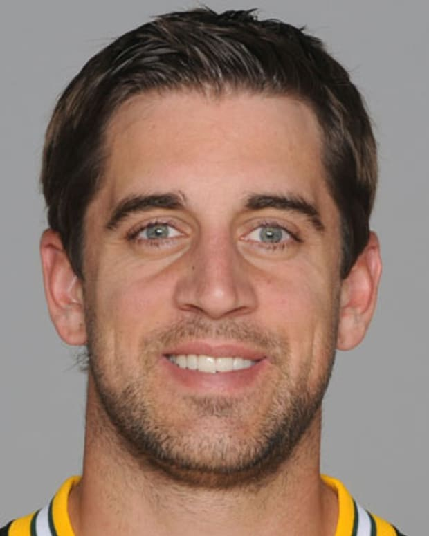GREEN BAY, WI - CIRCA 2011: In this handout image provided by the NFL, Aaron Rodgers of the Green Bay Packers poses for his NFL headshot circa 2011 in Green Bay, Wisconsin.  (Photo by NFL via Getty Images)