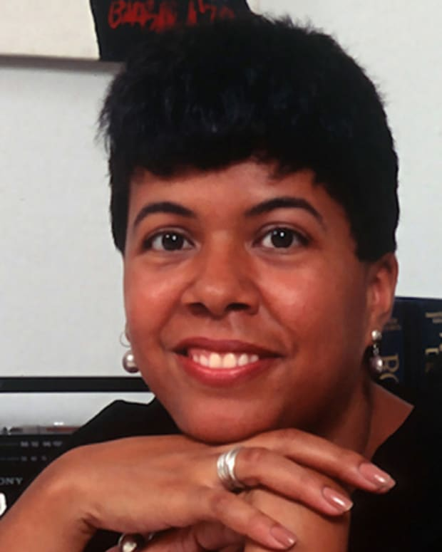 NEW YORK, NY - JULY 18: Barbara Brandon, the only American black female cartoonist to be nationally syndicated, is photographed at her apartment July 18, 1991 in New York City. (Photo by Yvonne Hemsey/Getty Images)