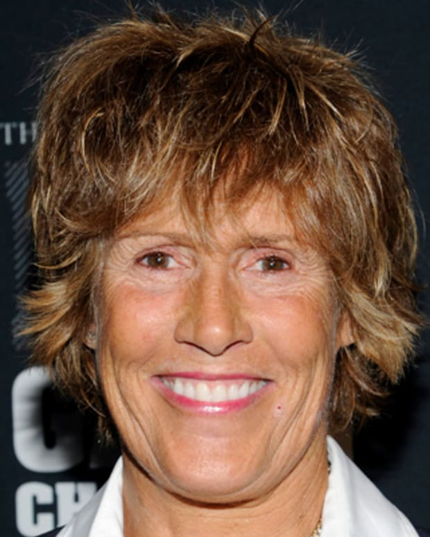 Swimmer Diana Nyad attends the AOL Huffington Post Game Changers Awards at Skylight Soho on Tuesday, Oct. 18, 2011 in New York. (AP Photo/Evan Agostini)