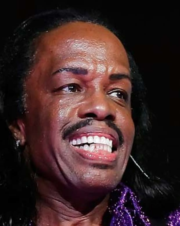 ST. PETERSBURG, FL - JUNE 30:   Verdine White of the band Earth, Wind and Fire performs during the Rays Summer Concert Series at Tropicana Field on June 30, 2012 in St. Petersburg, Florida.  (Photo by J. Meric/Getty Images)