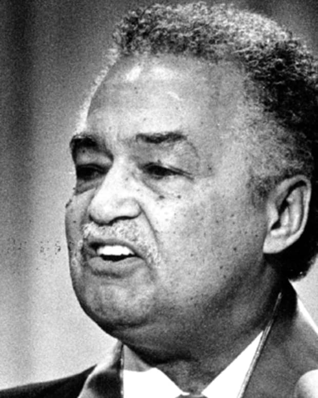 JUN 30 1981, JUN 31 1981, JUL 1 1981CORETTA KING, DETROIT MAYOR COLEMAN YOUNG SPEAKMrs. King, widow of Dr. Martin Luther King, Jr., said, If necessary, I am ready to march again.? Young, who Tuesday night was awarded the NAACP's Spingarn Medal for distinguished achievement, told convention, 'There is a national urban crisis, but I see no national urban policy.?Credit: Denver Post