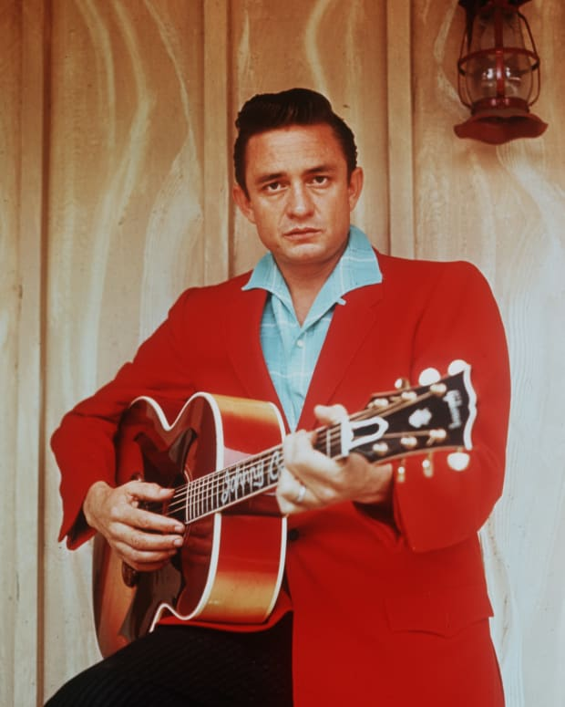 Johnny Cash Photo Gallery: Cash regularly appeared on music shows such as the Grand Ole Opry and the Louisiana Hayride. (Photo: Popperfoto/Getty Images)