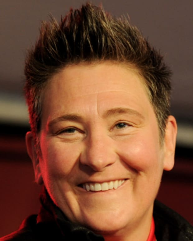 WEST HOLLYWOOD, CA - MARCH 13:  Singer k.d. lang performs at John Varvatos' 8th Annual Stuart House Benefit at the John Varvatos Boutique on March 13, 2011 in West Hollywood, California.  (Photo by Kevin Winter/Getty Images) *** Local Caption *** k.d. lang