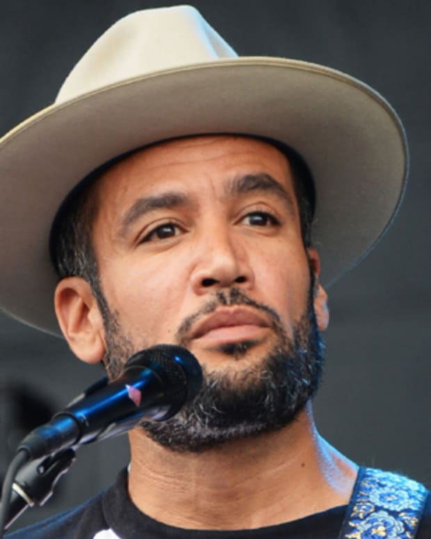 DOVER, DE - JUNE 23:  Ben Harper performs onstage at the Firefly Music Festival at The Woodlands of Dover International Speedway on June 23, 2013 in Dover, Delaware.  (Photo by Theo Wargo/Getty Images for Firefly Music Festival)
