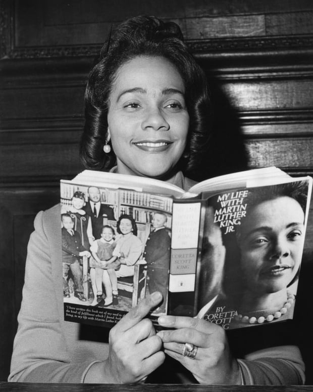Coretta Scott King: Years after the assassination of her husband Martin Luther King, Jr., Coretta Scott King tells her story as the partner of the the man who led the Civil Rights Movement in her book 'My Life With Martin Luther King Jr.' on February 9, 1970. (Photo by Central Press/Getty Images)