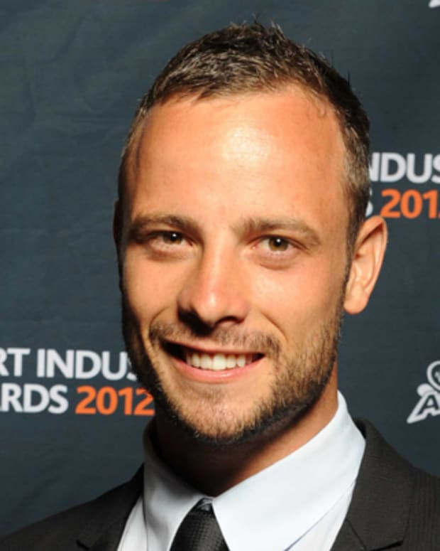 JOHANNESBURG, SOUTH AFRICA - FEBRUARY 23: (SOUTH AFRICA OUT) Osca Pistorius appears during the 2012 Virgin Active Sports Industry Awards from Emperors Palace on February 23, 2012 in Johannesburg, South Africa.  (Photo by Lee Warren/Gallo Images/Getty Images)