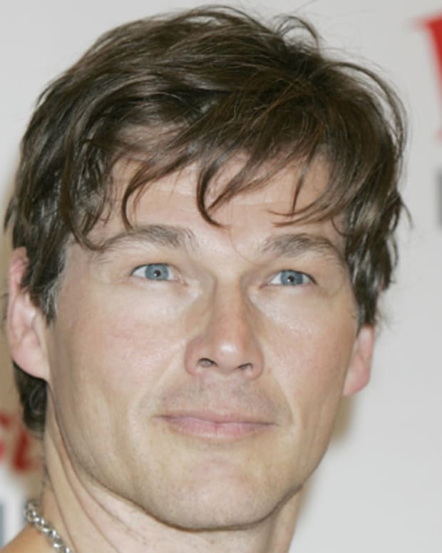 LONDON, UNITED KINGDOM - JULY 28: Morten Harket Norwegian pop band A-Ha poses backstage before performing a free accoustic show for fans at Westfield on July 28, 2009 in London, England. (Photo by Stuart Mostyn/Redferns)