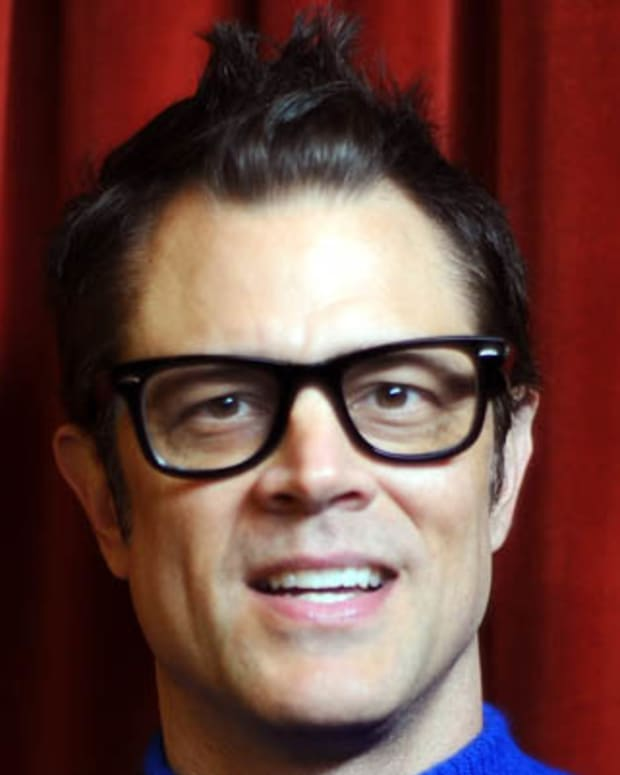 AUSTIN, TX - MARCH 10:  Actor Johnny Knoxville poses for photos during the premiere of 'Nature Calls' in the Green Room of Paramount Theater at the 2012 SXSW Music, Film + Interactive Festival on March 10, 2012 in Austin, Texas.  (Photo by Michael Buckner/Getty Images)