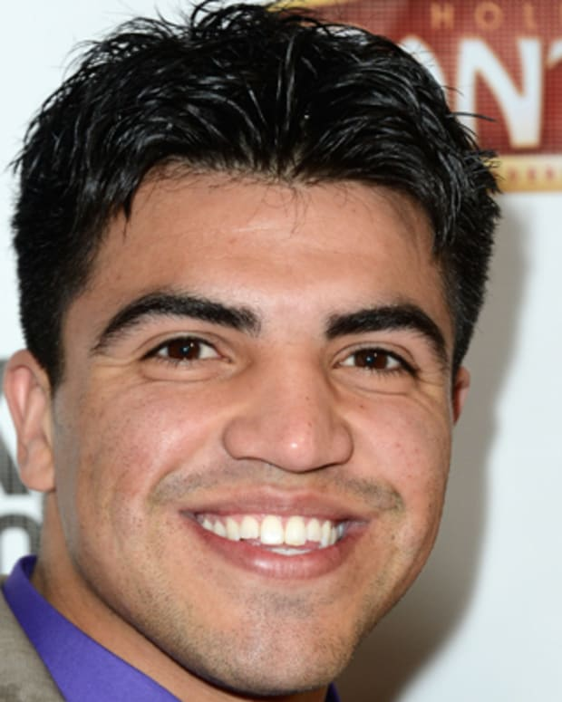 HOLLYWOOD, CA - MARCH 08:  Victor Ortiz  arrives at the opening Night Of 'Mike Tyson: Undisputed Truth' At The Pantages Theatre at the Pantages Theatre on March 8, 2013 in Hollywood, California.  (Photo by Frazer Harrison/Getty Images)