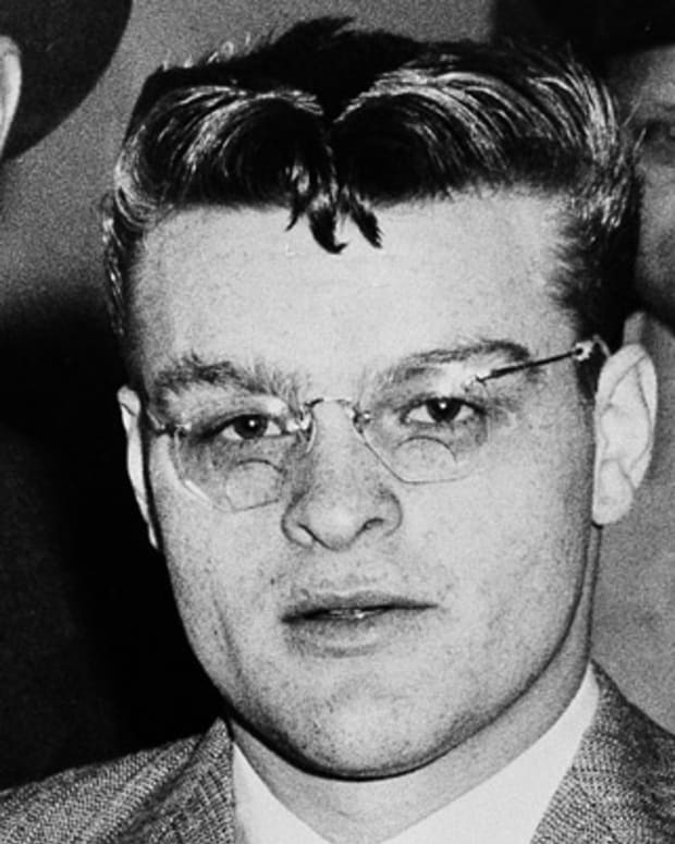 Charles Starkweather, confessed killer of 11 persons, is seen in custody in 1958.  He is schedule to be executed in May 1959.  (AP Photo)
