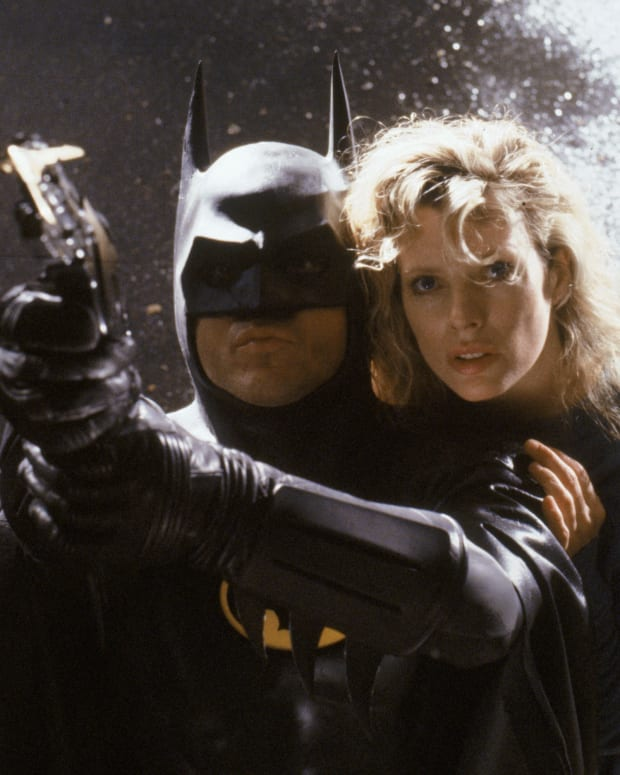 Michael Keaton and Kim Bassinger in Tim Burton's 'Batman,' 1989. (Photo: Photofest)