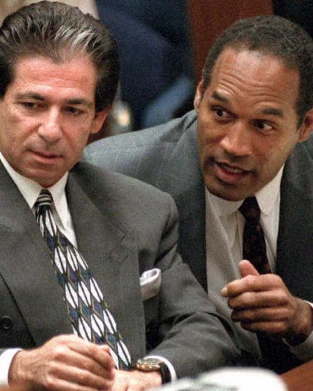 Robert Kardashian and O.J. Simpson trial photo