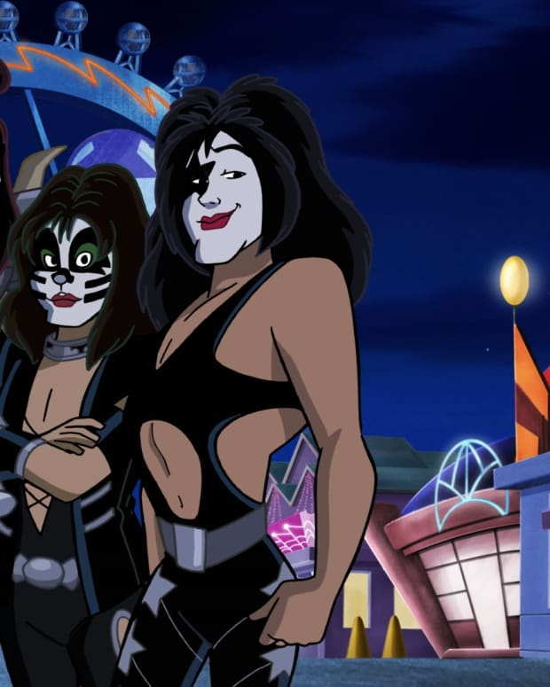 Scooby Doo and KISS Cartoon Photo