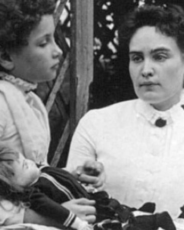 Helen Keller and Anne Sullivan in 1888