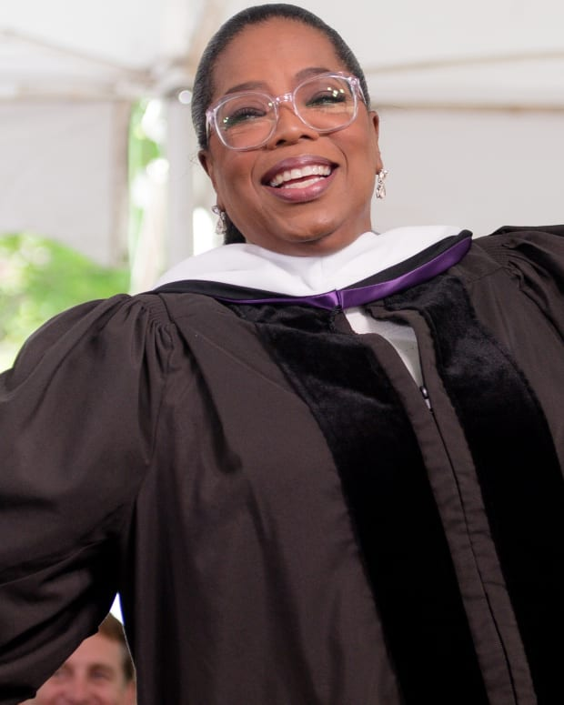 Oprah Winfrey at Agnes Scott College in 2017
